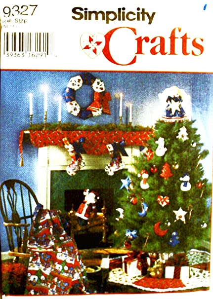Amazon Simplicity 9327 Crafts Sewing Pattern Christmas