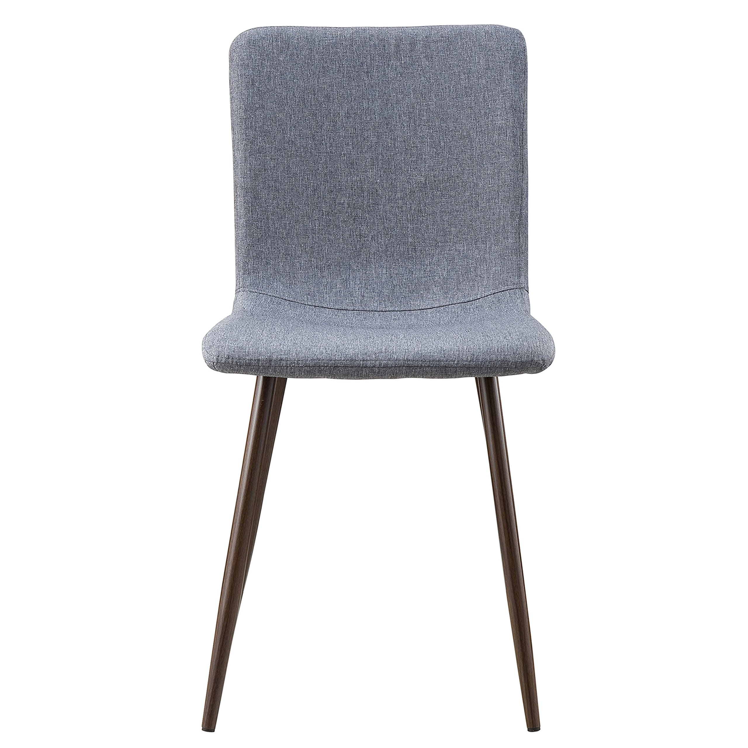 POLY & BARK EM-287-GRY-X4-A Wadsworth Dining Chair with Walnut Legs, Set of 4, by POLY & BARK (Image #3)