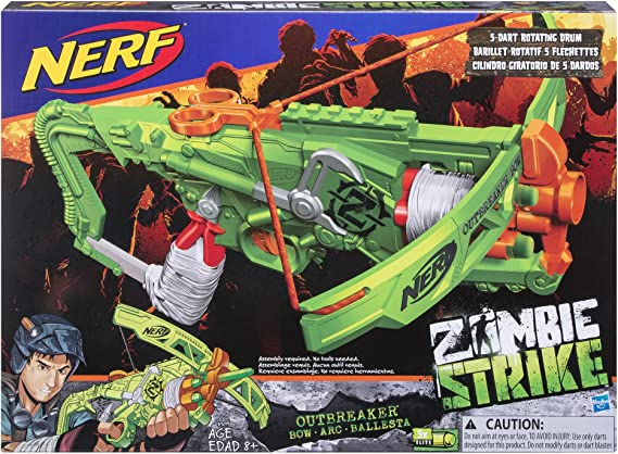 Amazon.com: Nerf Zombie arco Strike Outbreaker: Toys & Games