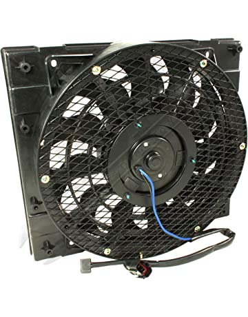 APDTY 7316712 AC Condenser Cooling Fan Assembly Fits 1994-2008 Isuzu NPR (Includes Plug