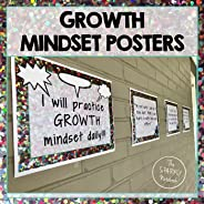 Growth Mindset Poster Set - Includes Colorful and Black and White Versions