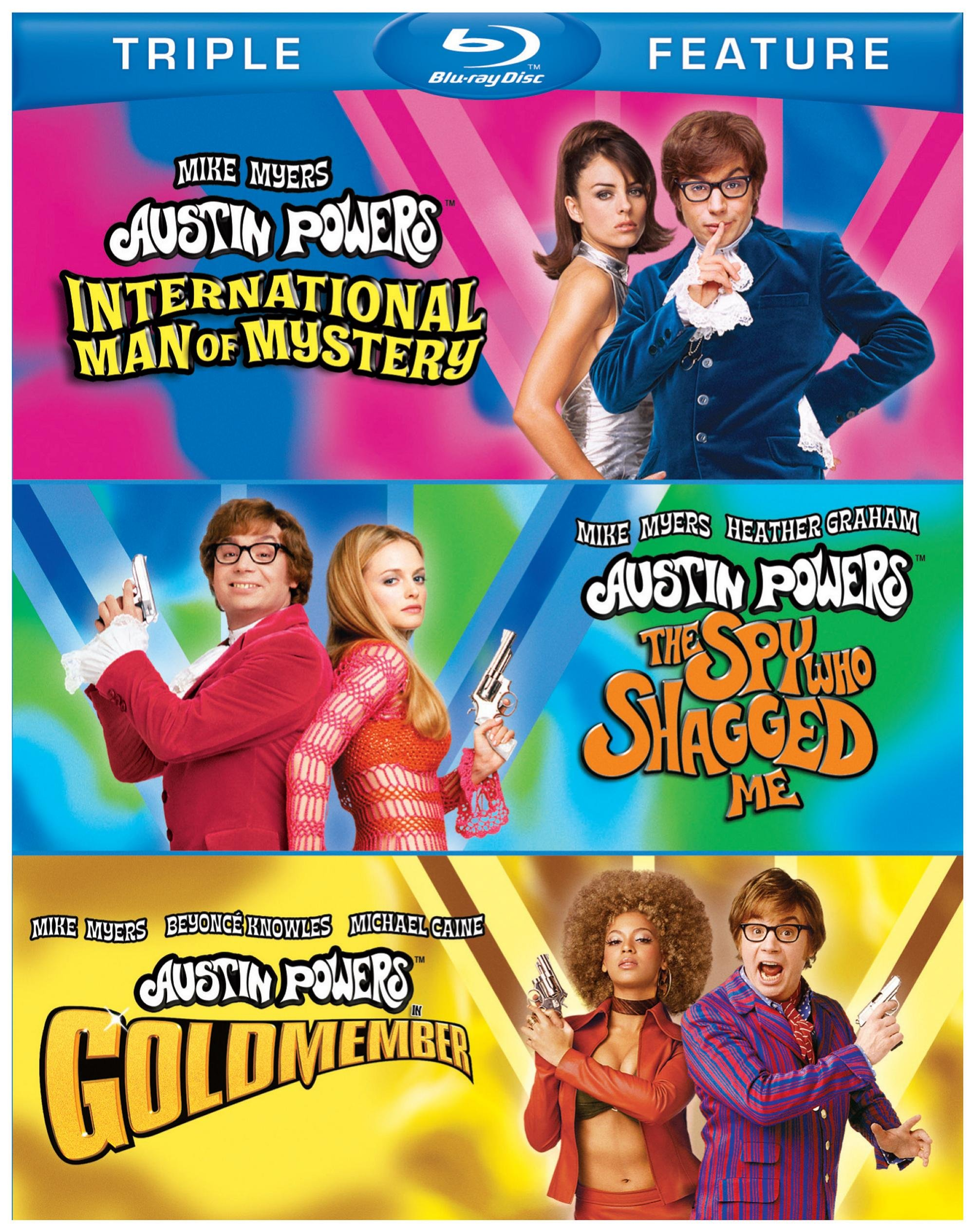 Blu-ray : Austin Powers: International Man of Mystery / Austin Powers: The Spy Who Shagged Me / Austin Powers in Goldmember (3 Disc)