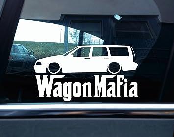 Lowered Volvo V70 T5 Turbo (1997 - 2000) Estate Wagon Mafia de silueta de coche Adhesivo: Amazon.es: Coche y moto