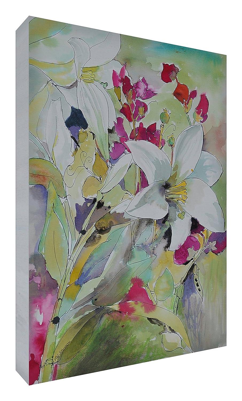 Feel Good Art Leinwand leuchtenden Farben Abstrakt gehören des Künstlers Val Johnson ebranchage Lys 115x 78x 4cm Größe XXL