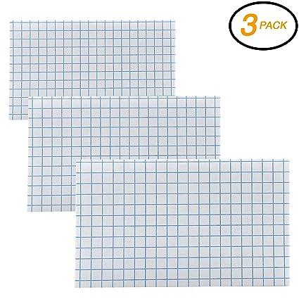 amazon com emraw 100 count quad ruled front plain back 4 squares