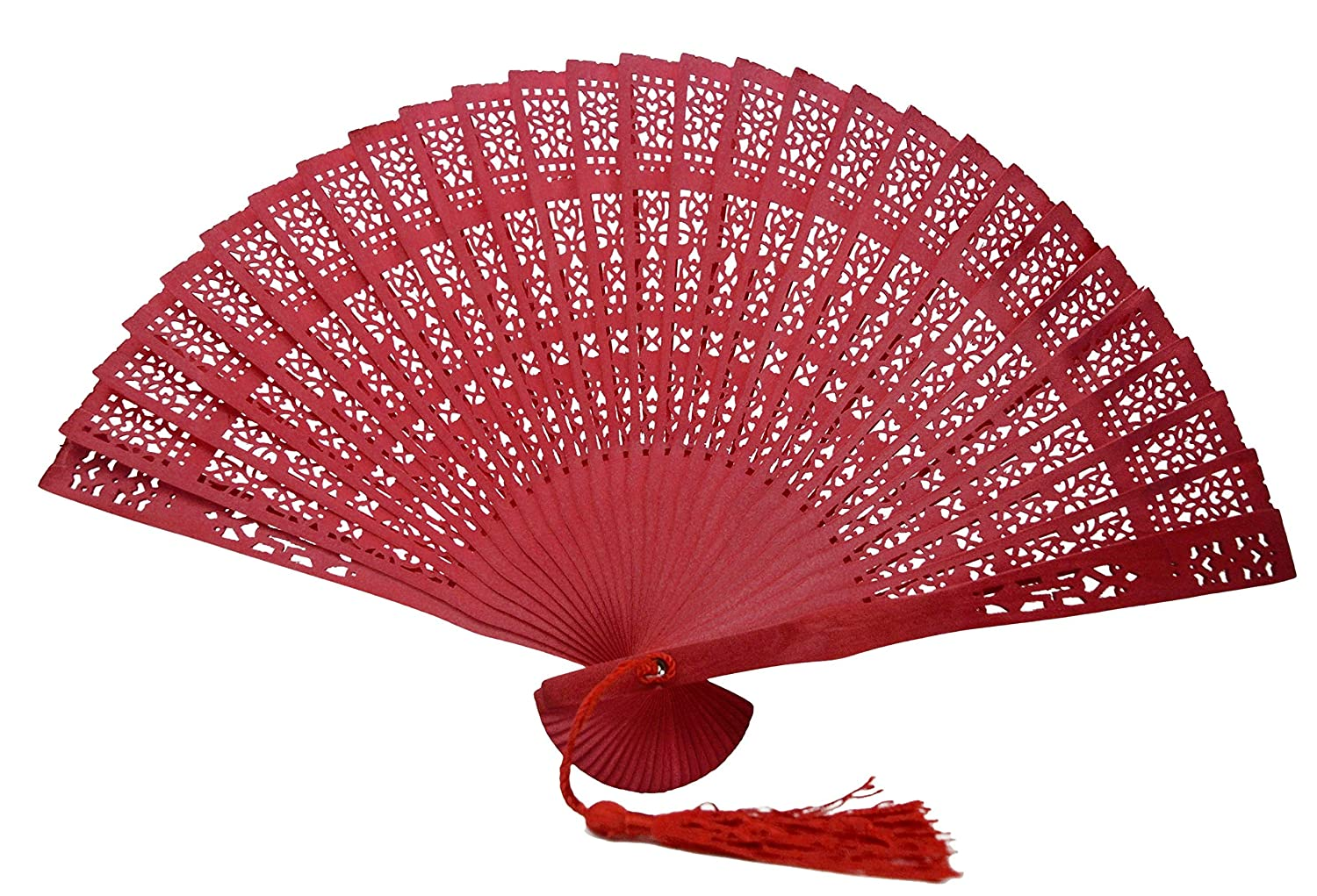 Wooden Red Colour Fragrant Hand Fans: Amazon.co.uk: Toys & Games