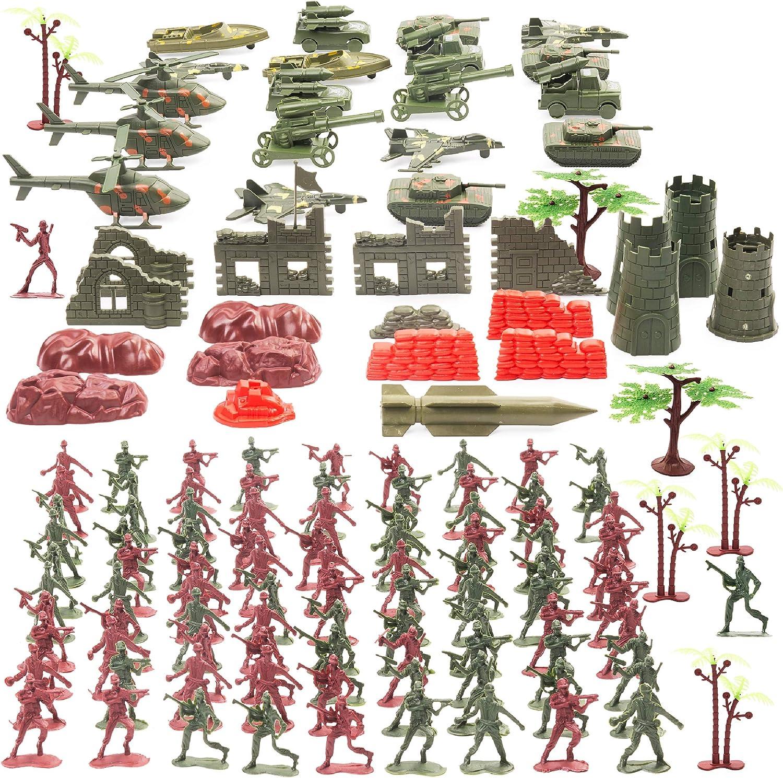 THE TWIDDLERS Set Juguetes Soldados 519 Piezas | Juguete Plastico de Figuras Militares Munecos Soldaditos | Accesorios de Guerreros Militar Playmobil Niños
