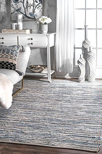 nuLOOM Maile Denim Stripes Area Rug, 6 x 9 , Blue
