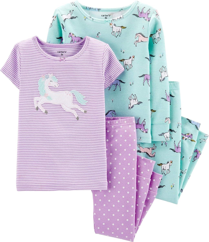 Carters 4 piezas Juego de pijama de unicornio - Morado - 12 ...