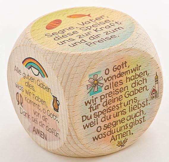 °°2559 Kleiner GEBETSWÜRFEL 5cm (Tischgebete)