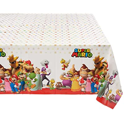 Super Mario Brothers Plastic Table Cover, Party Favor: Toys & Games [5Bkhe0500762]