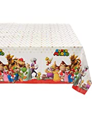 """Swank Super Mario Brothers Plastic Table Cover, 1 Piece, Made from Plastic, Birthday, 54"""" x 96"""" by Amscan"""