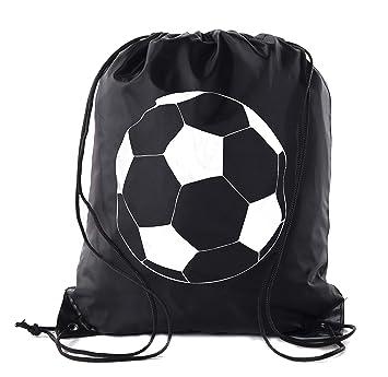 Amazon.com: Favores de fiesta de fútbol | Mochilas de cordón ...