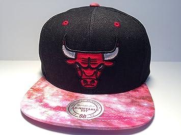 brand new 82e12 2c621 ... new 624ba c399a shopping chicago bulls nba basketball cap red pink galaxy  print mitchell ness flat bill snapback hat ...