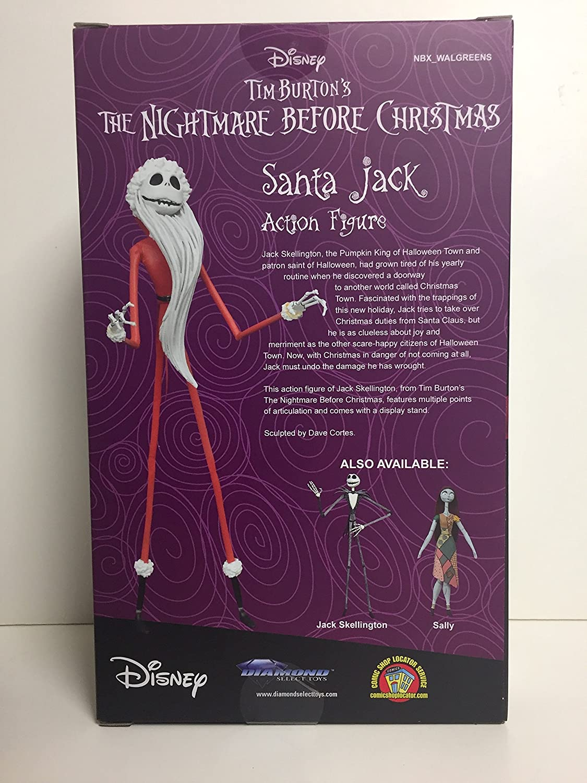 Amazon.com: Jack Skellington in Santa Suit Action Figure - Tim ...