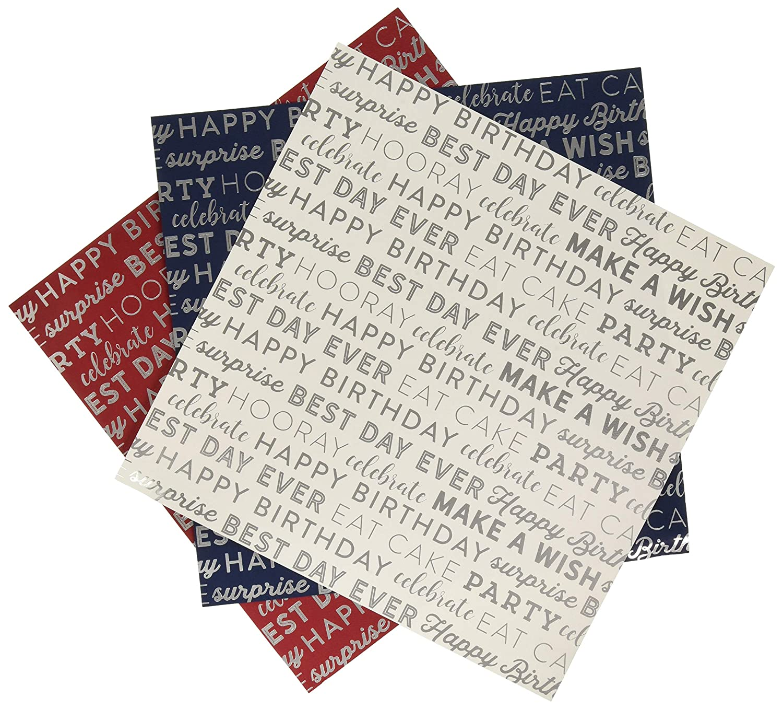 Carta Bella Paper Celebrate Foil Collection Kit, 12-x-12-Inch