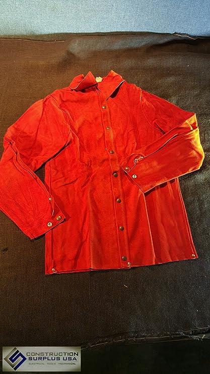 """Guardia Línea 30 """"chaqueta de cuero para soldar ..."""