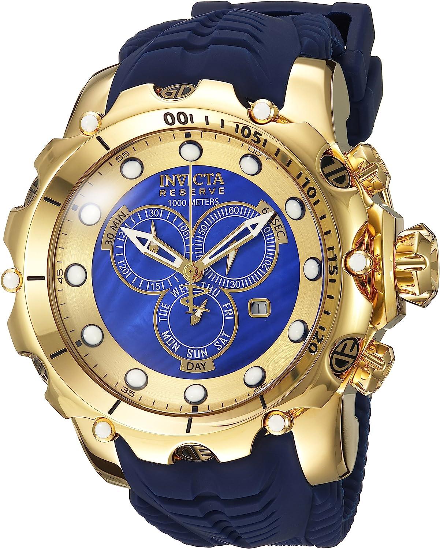 Invicta Men s Venom Stainless Steel Swiss-Quartz Watch with Silicone Strap, Blue, 26 Model 20402