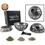 Official Death Star Herb Grinder - Weed Grinder With BONUS Kief Scraper - Star Wars Gifts - Herb Spice & Tobacco Tool With Kief Catcher - 3 Part Grinder, 2.2 Inches