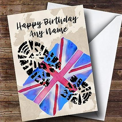 Amazon military boot print union jack uk flag personalized military boot print union jack uk flag personalized birthday greetings card m4hsunfo