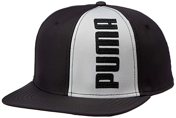 e9d4cb68 PUMA Flatbrim Cap II Puma Black-Limeston: Amazon.in: Clothing ...