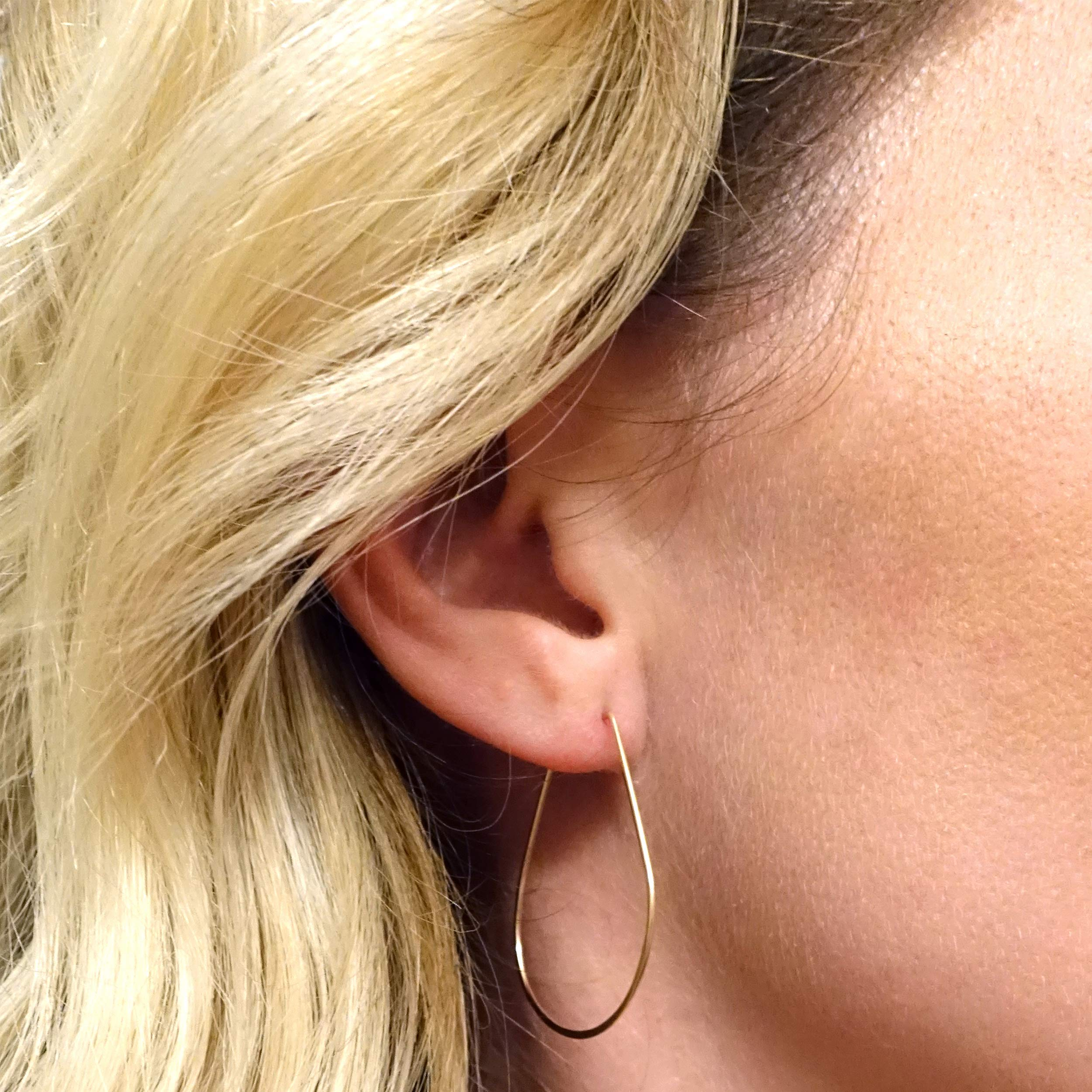 Featherweight Pear Earrings – Small Gold by April Soderstrom (Image #2)