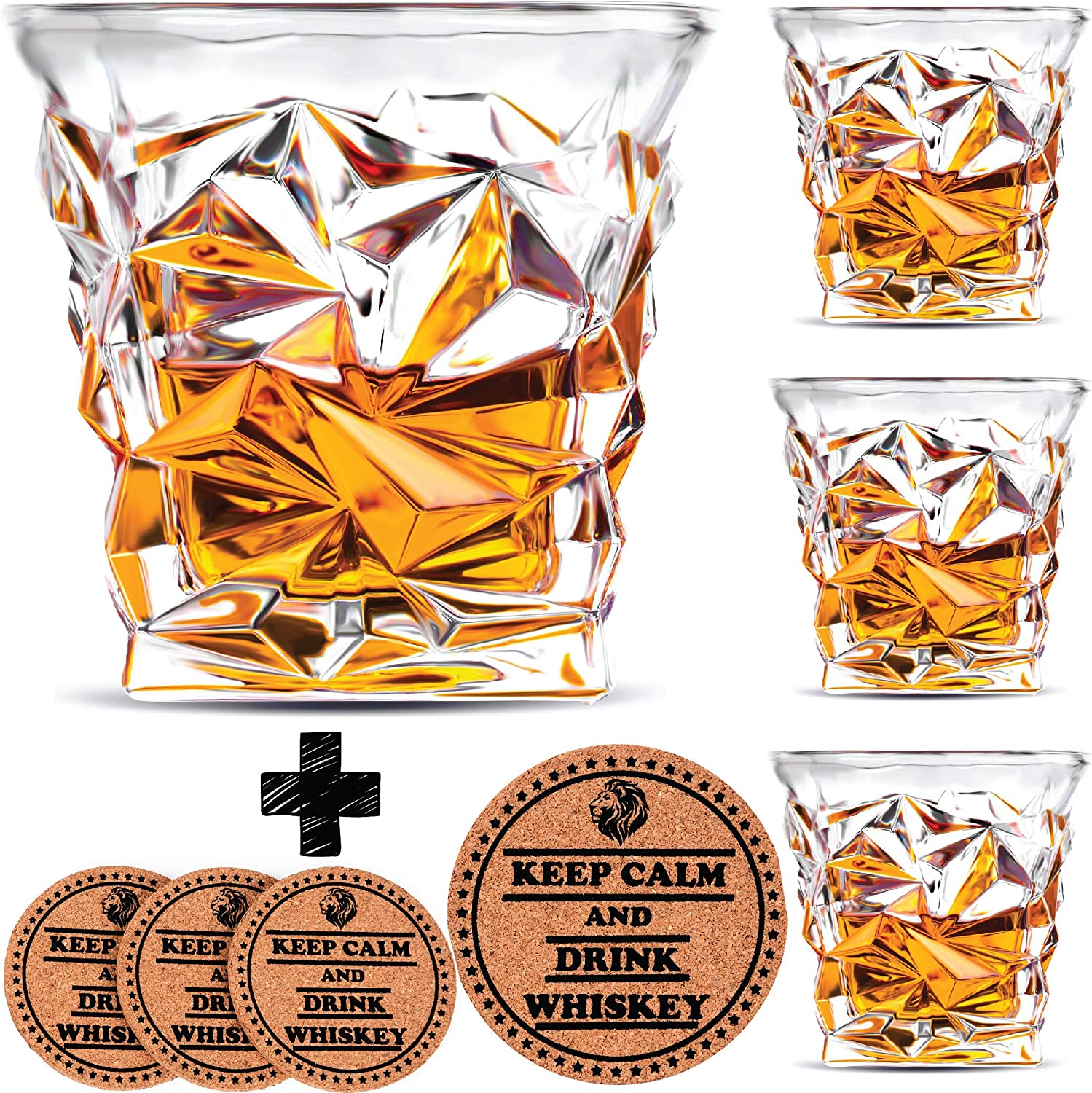 4.3-Inch Art Collection Big Glassware for Man Women Boys Glass Gift Pure Black
