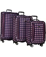 "Ben Sherman Luggage Brighton Collection 3-Piece Luggage Spinner Set: 28"", 24"", and 20"""
