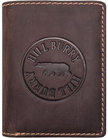 43d0b3991 Hill Burry Cartera de Cuero Genuino | Hombre Monedero - Monedero Varón |  Portamonedas de Cuero