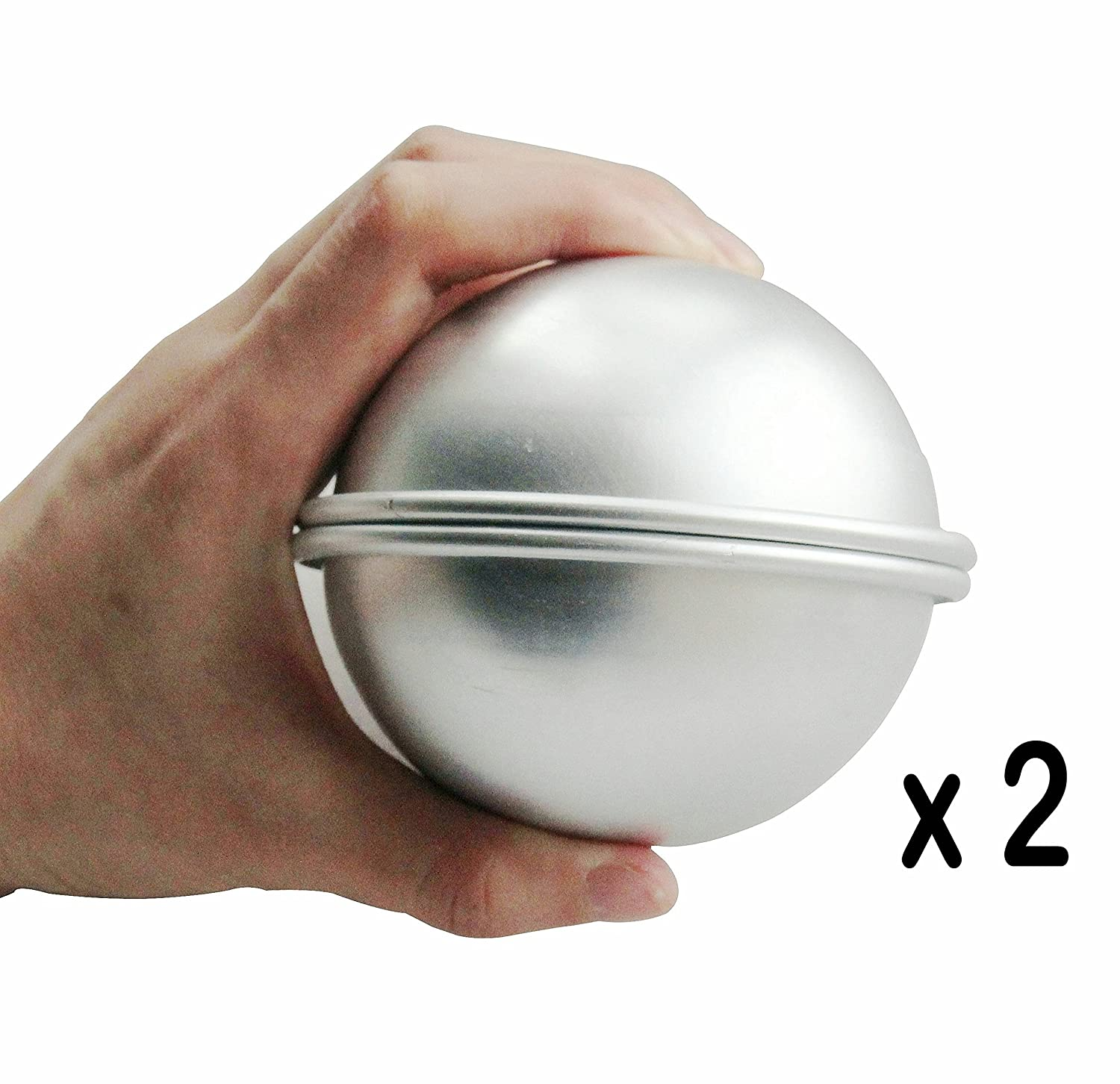 Extra Large Size Make 8 cm//3.15 inch Diameter Incredible Ball by ROUNDSQUARE 2 Set 4 Pieces Bath Bomb Mold