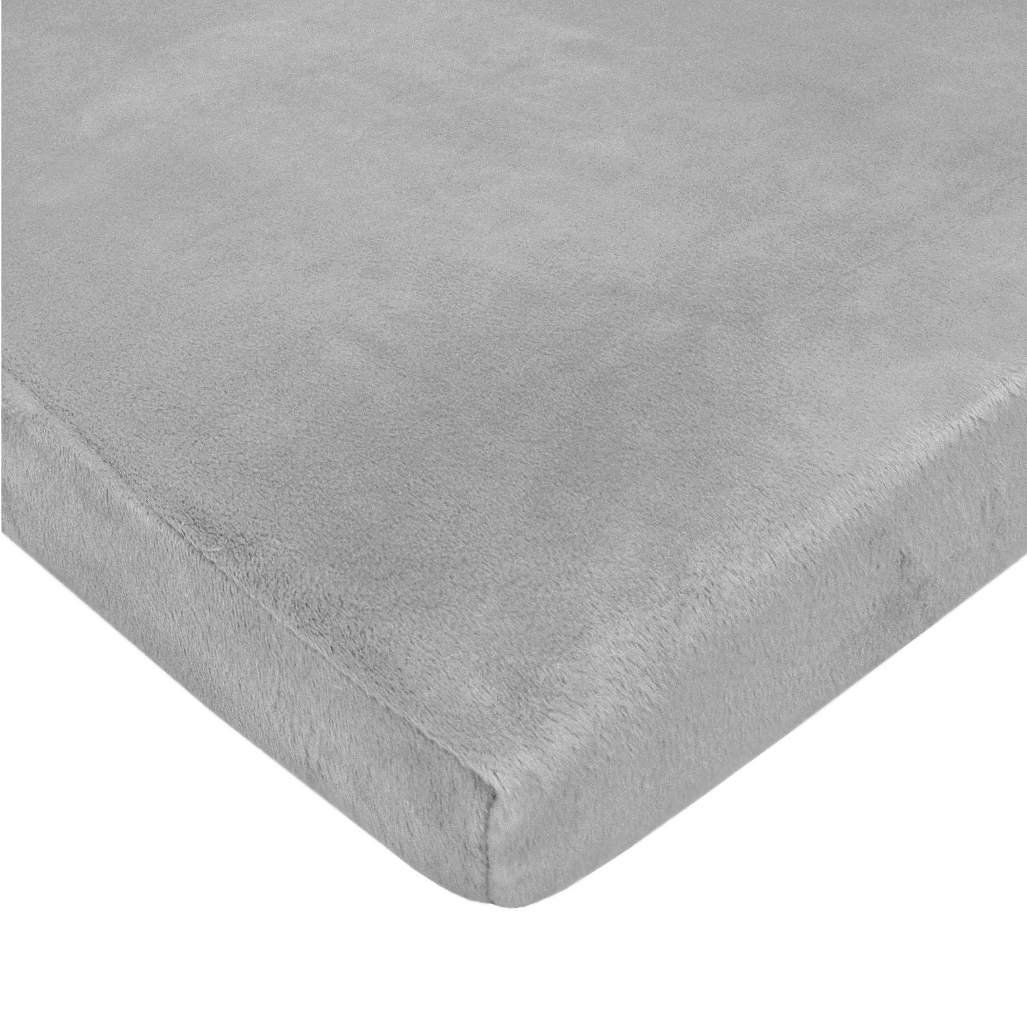 American Baby Company Heavenly Soft Chenille Fitted Pack N Play Playard Sheet, Gray, 27'' x 39''