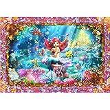 500ピース ジグソーパズル リトルマーメイド ビューティフルマーメイド(アリエル) ぎゅっとシリーズ 【ステンドアート】(25x36cm)