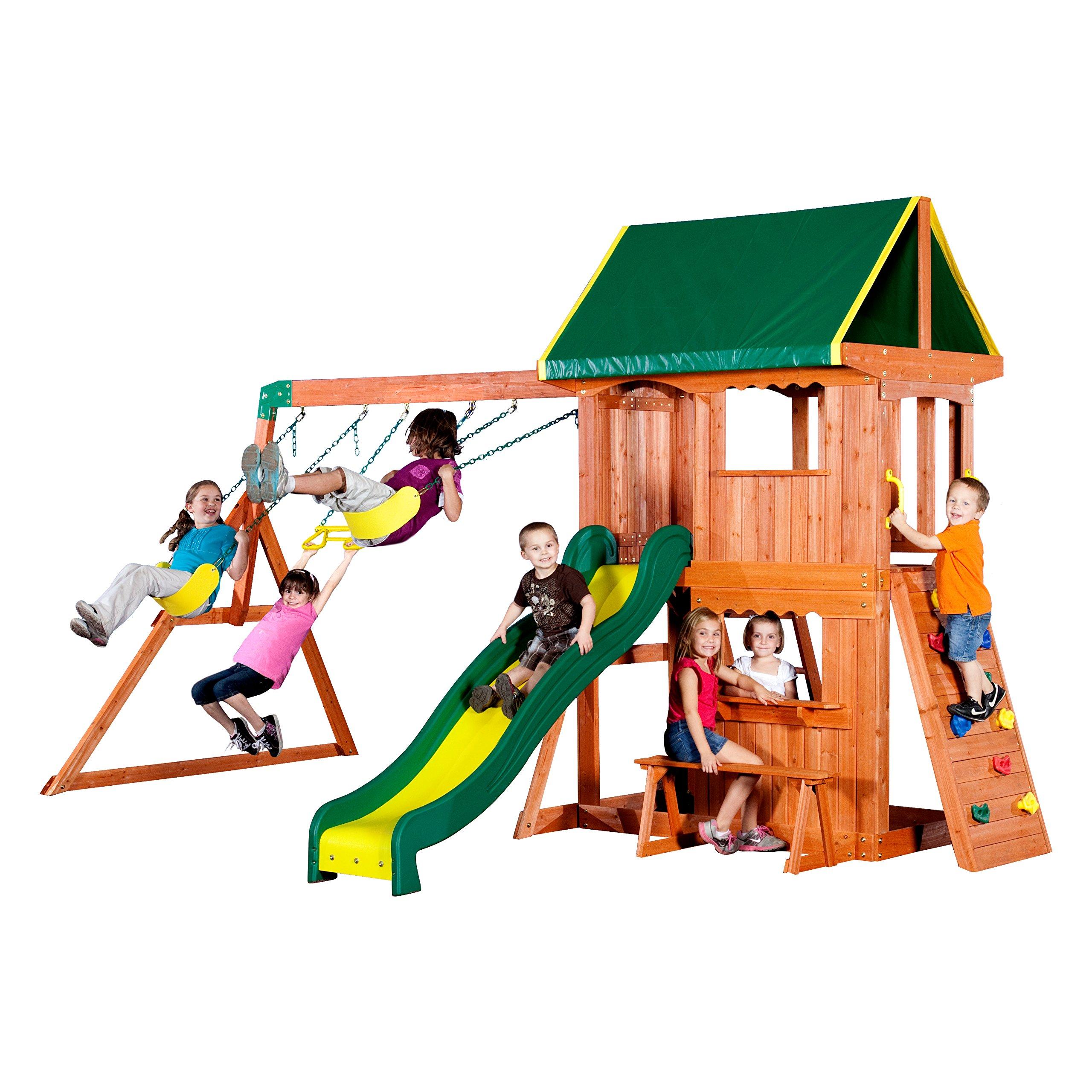 Backyard Discovery Somerset All Cedar Wood Playset Swing Set by Backyard Discovery