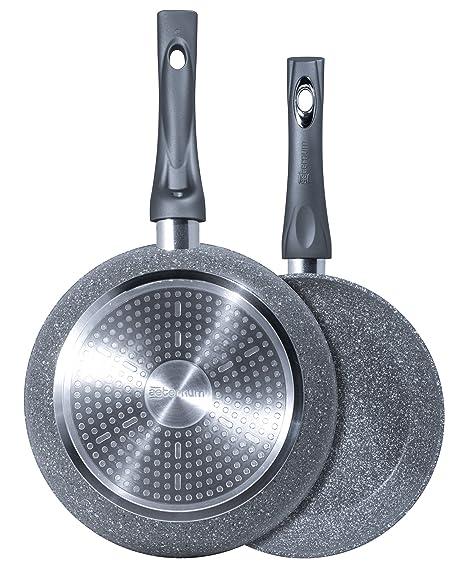 Bialetti y0 C6set001 Madame Petra Inducción 2.0 Sartén Aluminio Gris 24/28 cm