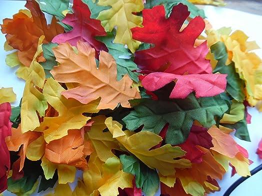 100 quality silk oak leaves craftwedding decoration amazon 100 quality silk oak leaves craftwedding decoration junglespirit Gallery