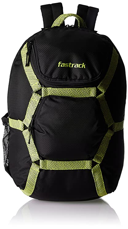 31e757314b48 Fastrack 29.89 Ltrs Black Casual Backpack (A0624NBK01)  Amazon.in  Bags