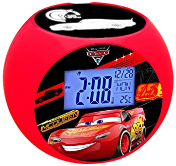 Amazon.es: Cars RL975DC Disney Despertador con Proyector, Radio FM ...