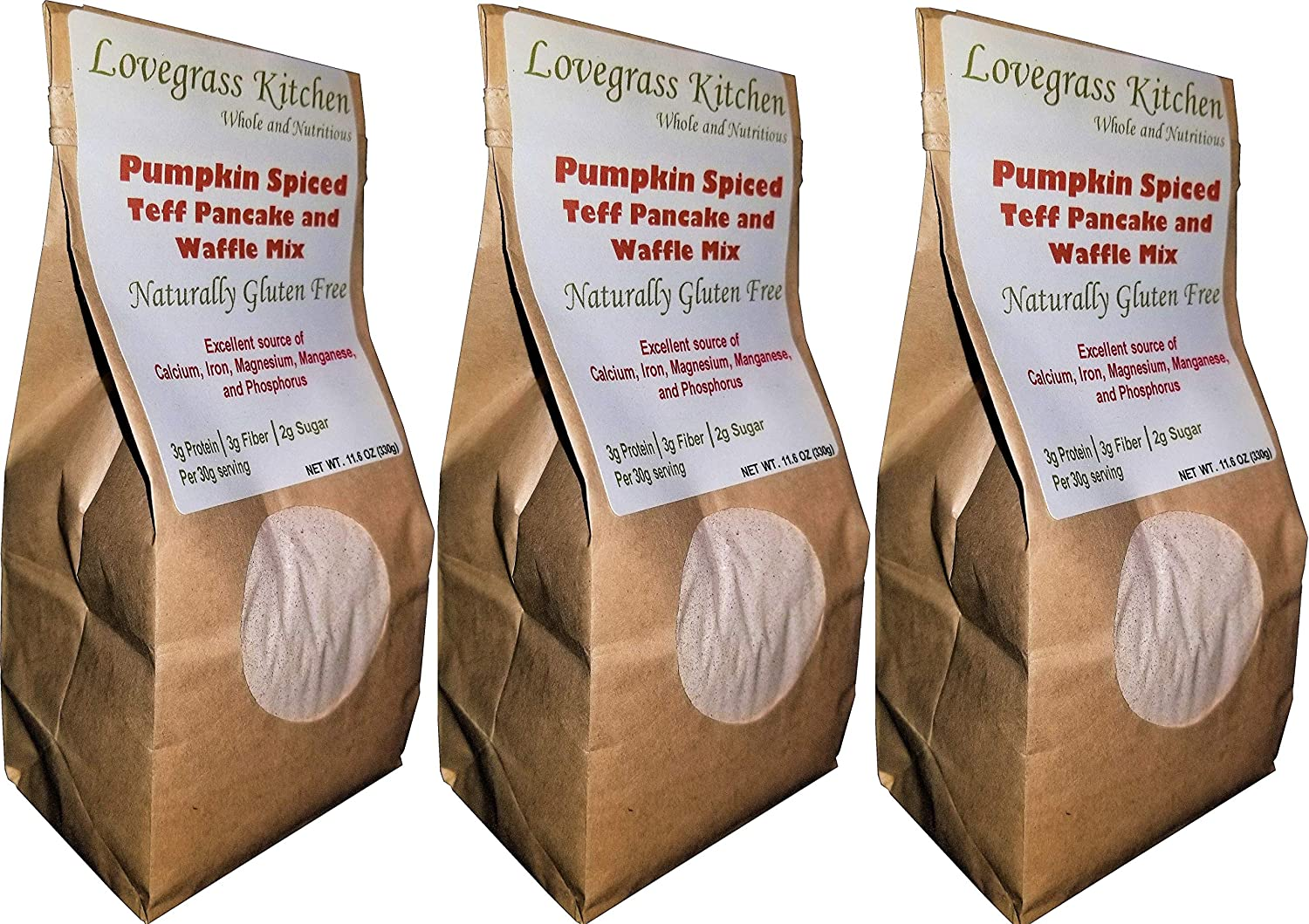 Pumpkin Spiced Teff Pancake and Waffle Mix (Box of 3)