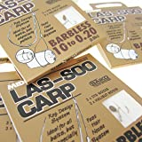 FTD - 18 (3 packs of 6) of Single Size MIDDY LAS-SOO CARP Barbless Fishing hooks with Fast Hair Noose System - Available in sizes 8, 10, 12, 14 & 16 - comes with 10 FTD Barbless Hooks to Nylon