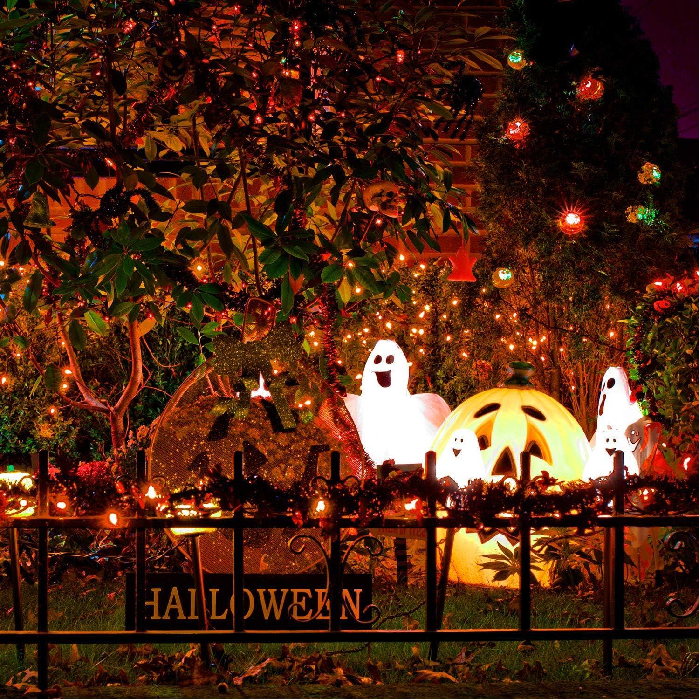 Patio Fairy Garden Ruisita Halloween String Lights 23.12 ft 100 Incandescent Orange Mini Bulbs Lights 120 V UL Certified String Lights for Outdoor and Indoor Holiday Halloween Decorations
