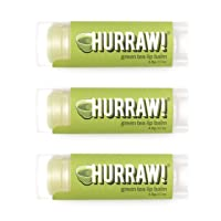 Hurraw! Green Tea Lip Balm, 3 Pack: Organic, Certified Vegan, Cruelty and Gluten Free. Non-GMO, 100% Natural Ingredients. Bee, Shea, Soy and Palm Free. Made in USA