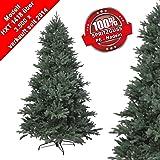 RS Trade® 210 cm PE Spritzguss Weihnachtsbaum, exklusiv und hochwertig mit 100% Spritzgussnadeln ( schwer entflammbar ) mit Metallständer, schneller Aufbau durch Klappsystem, ca. 4850 Spitzen