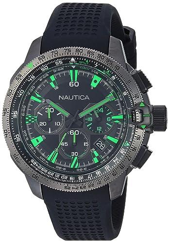 Nautica NAPMSB002 - Reloj de Pulsera Hombre, Silicona, Color Negro: Amazon.es: Relojes