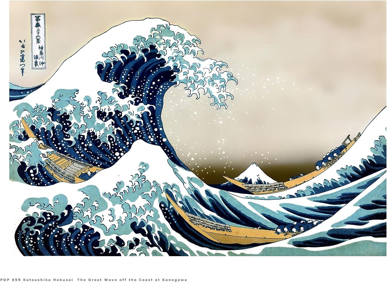 Hokusai The Great Wave off Kanagawa Japanese Poster Art Print 40x30cm (PDP  059): Amazon.co.uk: Kitchen & Home