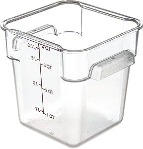 Carlisle 10721AF07 StorPlus Square Container Only, Polycarbonate, 4 Quart, Purple