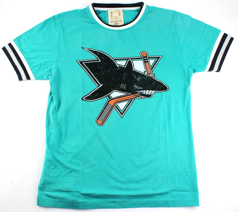 Amazon.com   San Jose Sharks NHL Men s Remote Control Distressed T-shirt    Sports   Outdoors 8e859fd0a