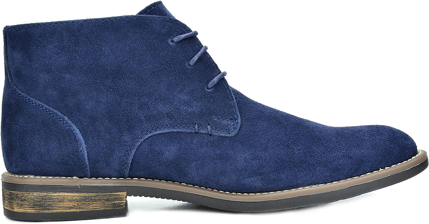Bruno Marc Mens Suede Leather Lace Up Oxfords Chukka Ankle Boots