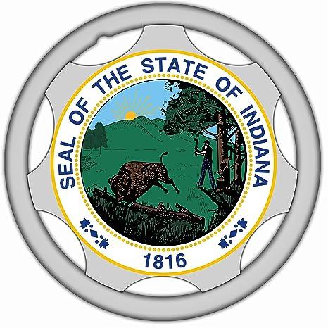 Juego de 4 tapas de ruedas hechas a mano de la marca State of Indiana de