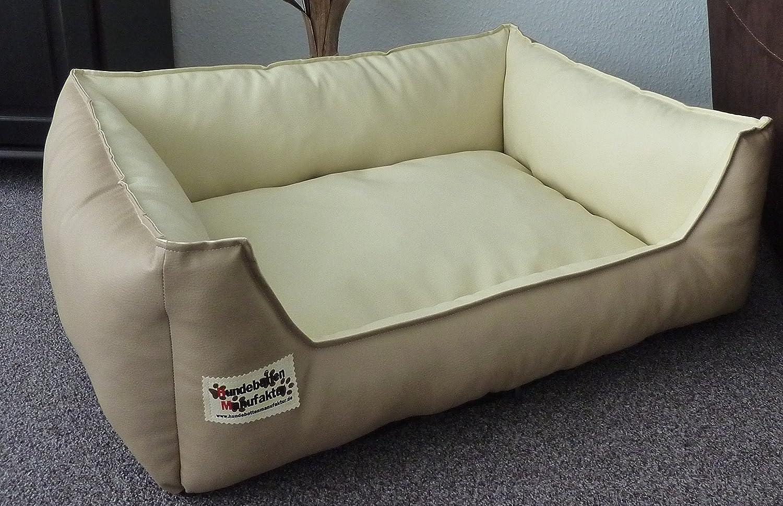 Panier pour chien en simili-cuir - Canapé pour chien, taille de XS à XXL taille de XS à XXL Hundebettenmanufaktur