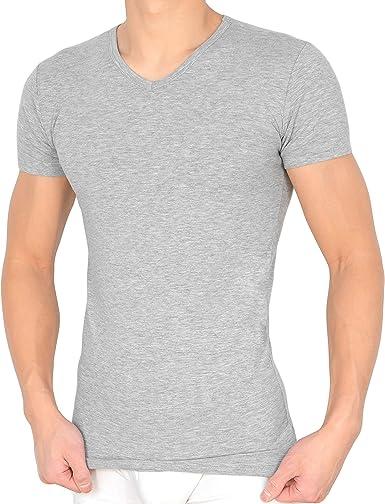 Pack de 2 camisetas interiores para hombre con cuello en V ...